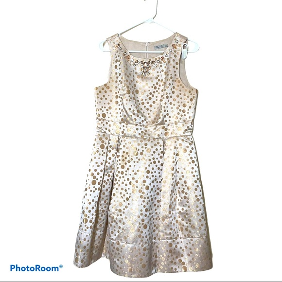Eliza J Gold Cocktail Mini Dress Size 12